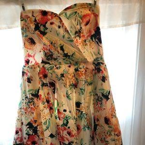 Piper Dresses - Adorable floral sweetheart top dress - sz L